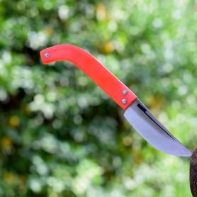 Tapan Cep Çakısı 19 cm Paslanır Kara Çelik Kırmızı