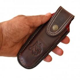 Tapan Çakı Bıçak Kılıfı 17-19 cm Uyumlu Vegatel deri ( Siyah )
